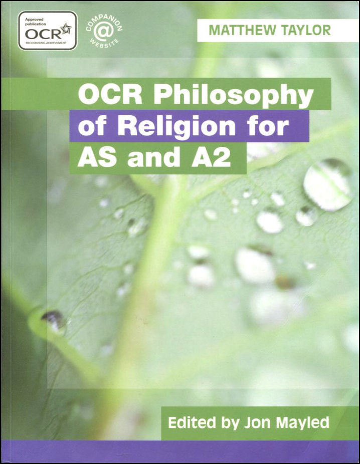 Image for OCR Philosophy of Religion for AS and A2