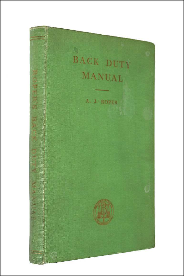 Image for Back Duty Manual