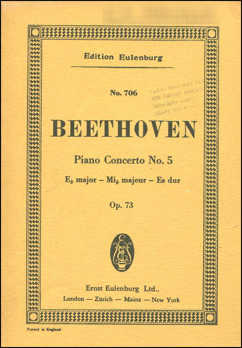 Image for Beethoven Piano Concerto No. 5