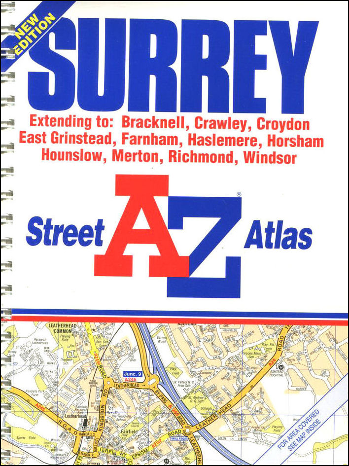 A-Z Street Atlas of Surrey