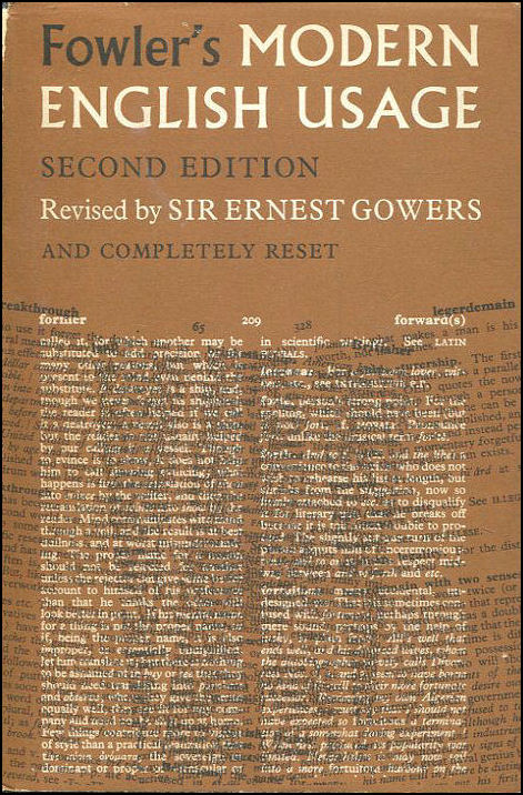 A Dictionary Of Modern English Usage, Fowler, H. W