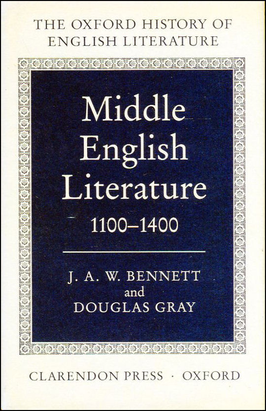 Image for Middle English Literature 1100-1400 (Oxford History of English Literature)