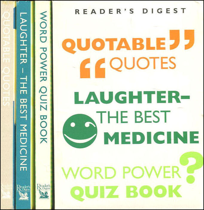 Image for Laughter - the Best Medicine / Quotable Quotes / Word Power Quiz Book (Boxed Set)