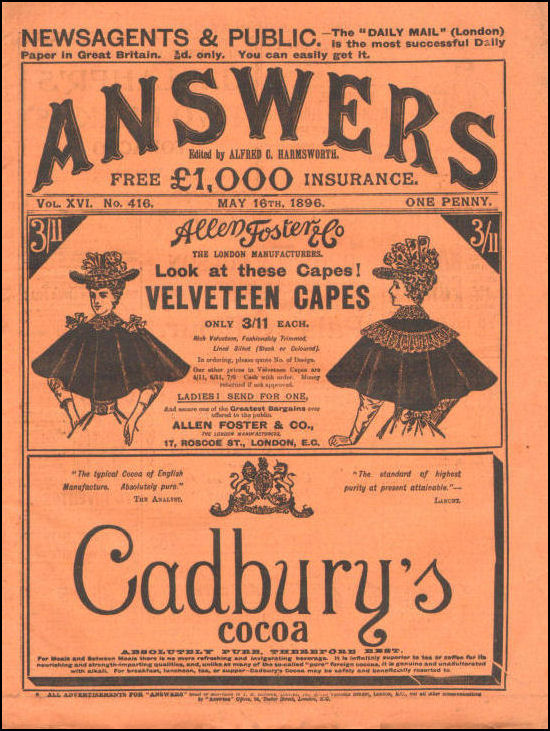 Answers, May 16th 1896, Alfred C Harmsworth