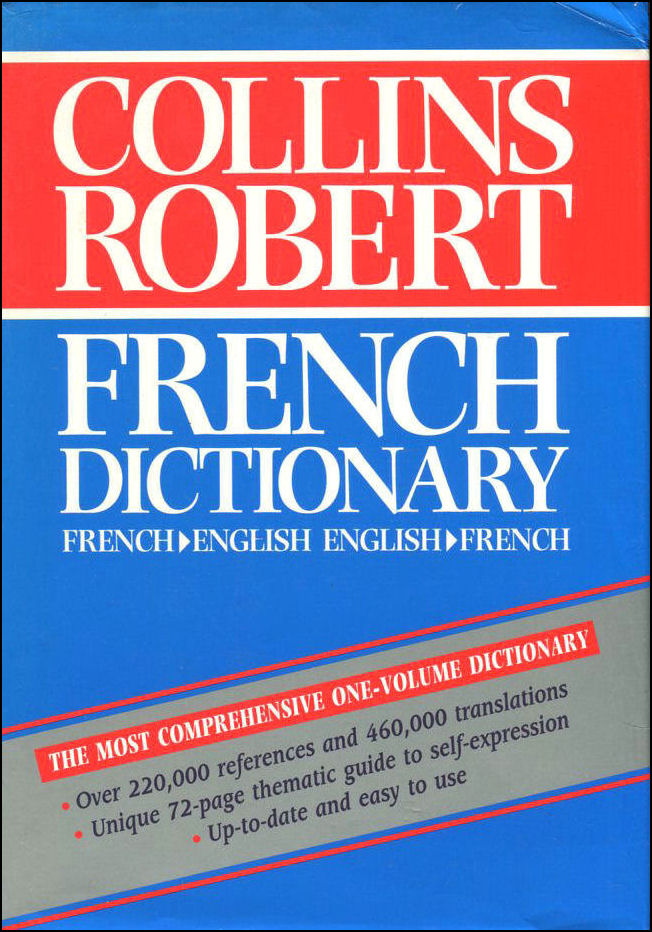 Collins-Robert French Dictionary (French-English, English-French), Atkins, Beryl T.