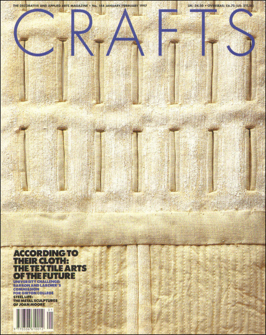 Image for Crafts, The Decorative and Applied Arts Magaine No 144 January / February 1997