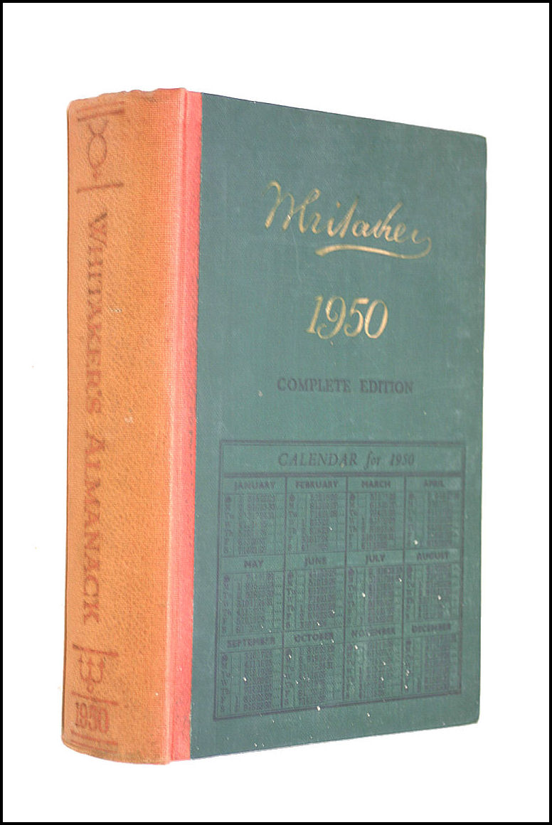 Whitakers Almanack: 1950, Whitaker, Joseph