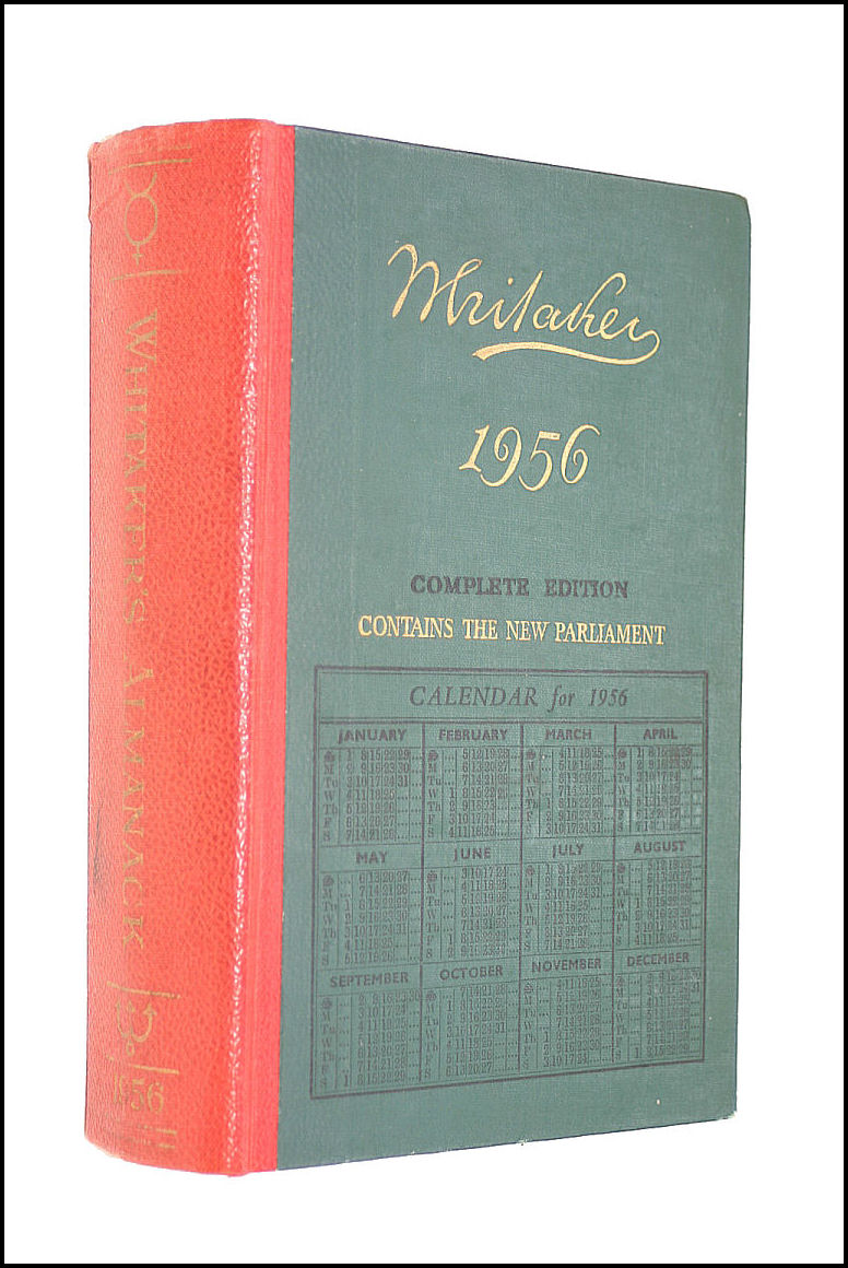 Whitaker's Almanack 1956 : Complete Edition, Whitaker and none