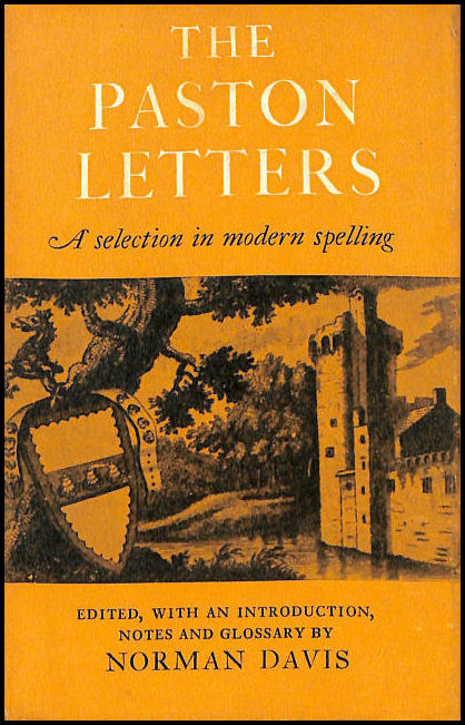 Paston Letters: Selection in Modern English Spelling (World's Classics), Davis, Norman [Editor]