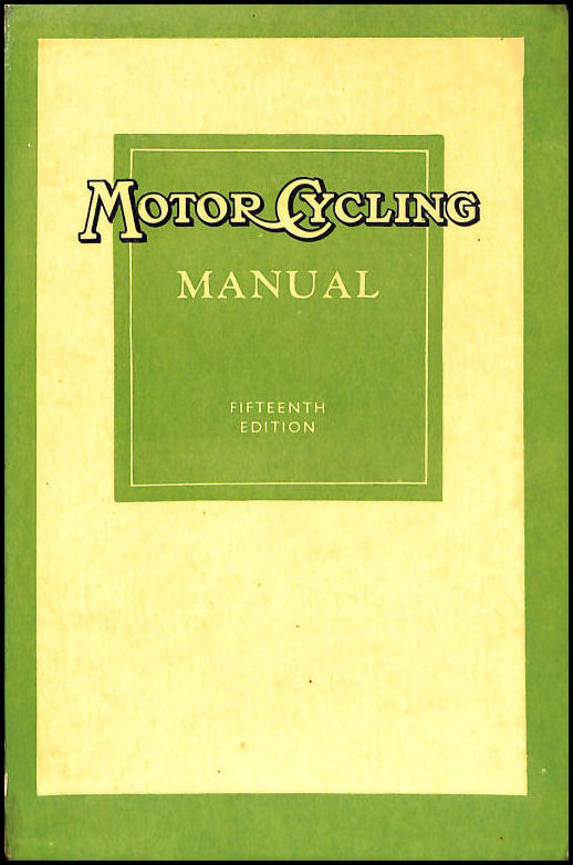 'Motor Cycling' Manual