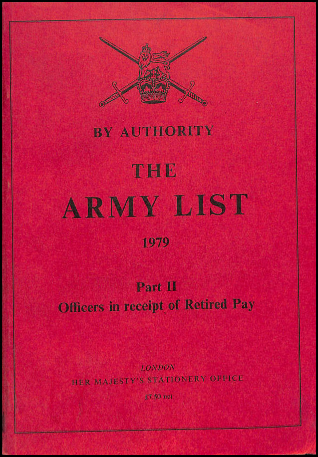 Image for The Army list Part II, Officers in receipt of Retired Pay