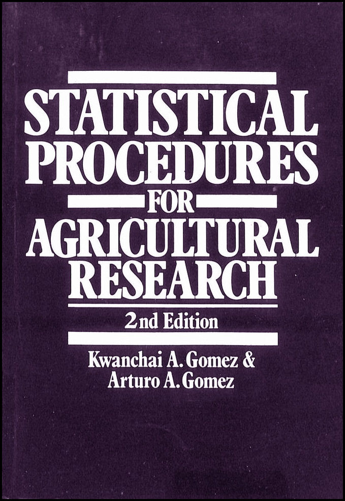 Image for Statistical Procedures for Agricultural Research