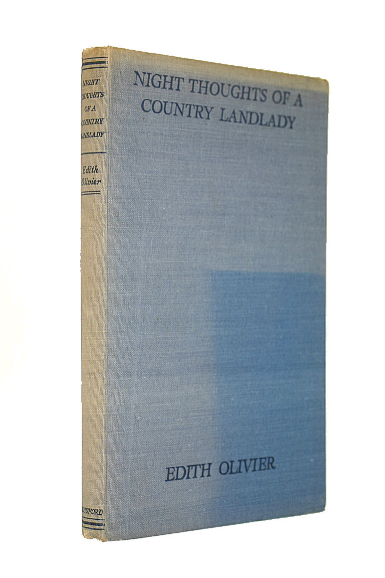 Night Thoughts Of A Country Landlady. With Colour Frontispiece And Full-Page Illustrations By Rex Whistler., Edith Olivier Rex Whistler