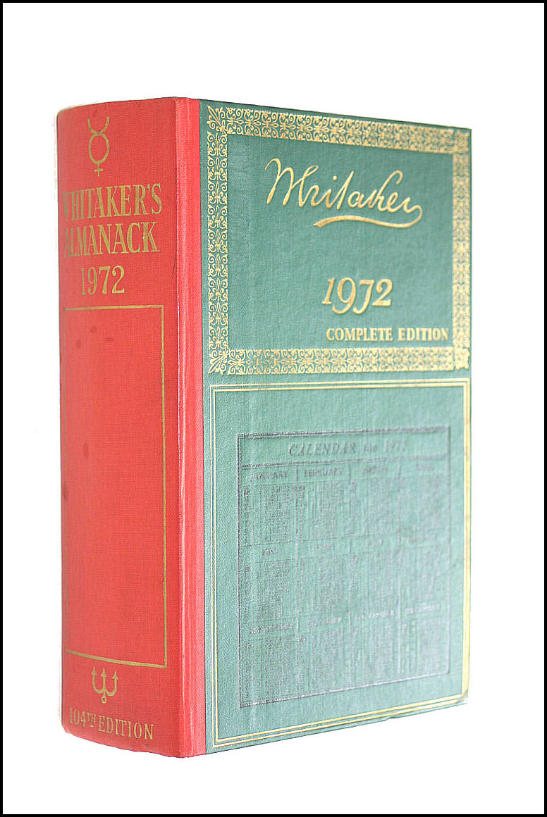 Image for Whitaker's Almanack: 1972 Complete Edition
