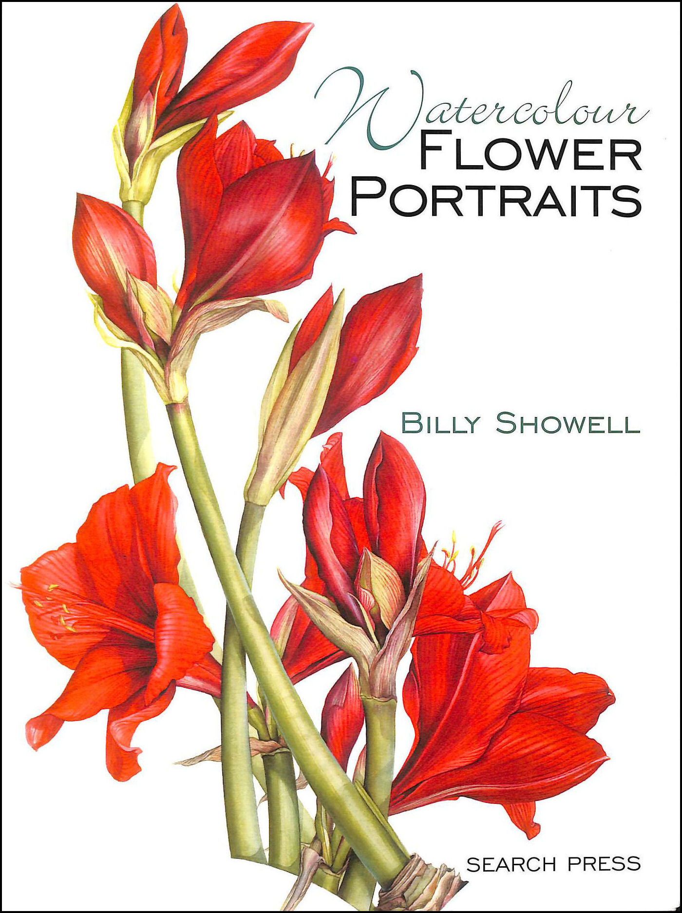 Watercolour Flower Portraits, Billy Showell
