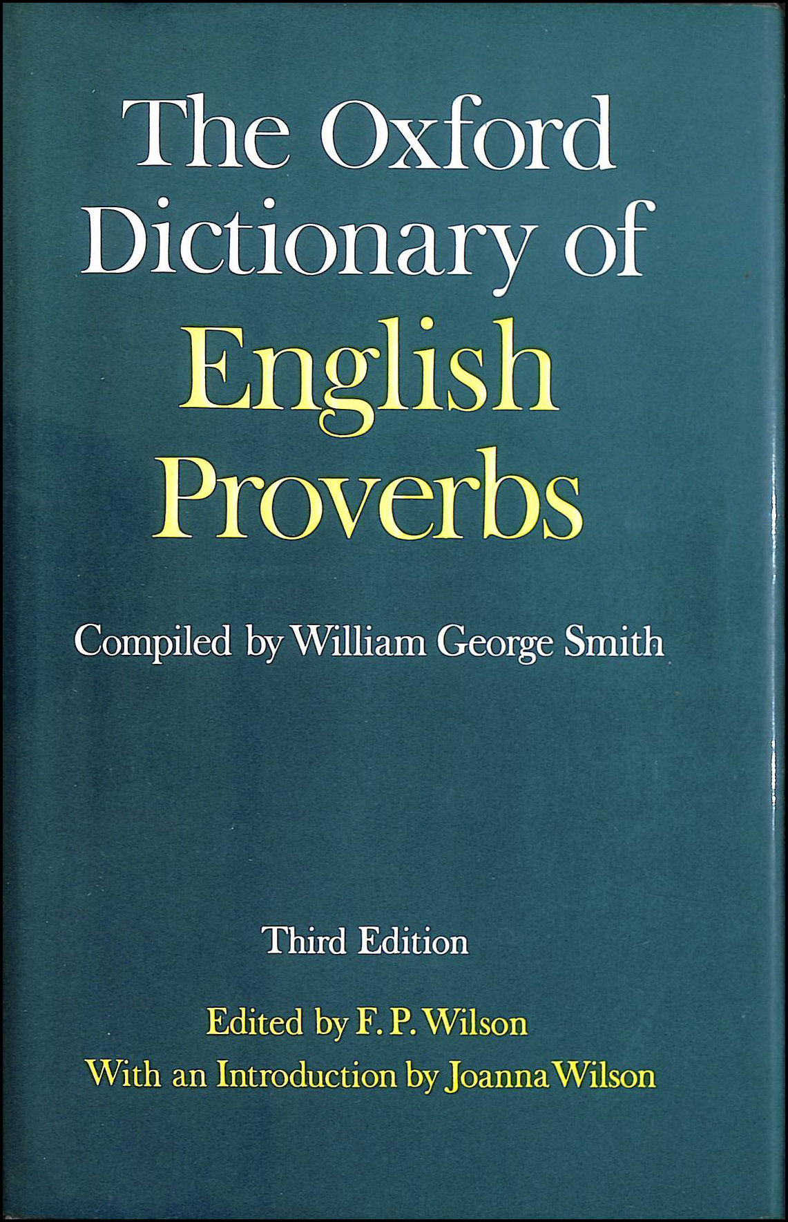 Image for The Oxford Dictionary of English Proverbs