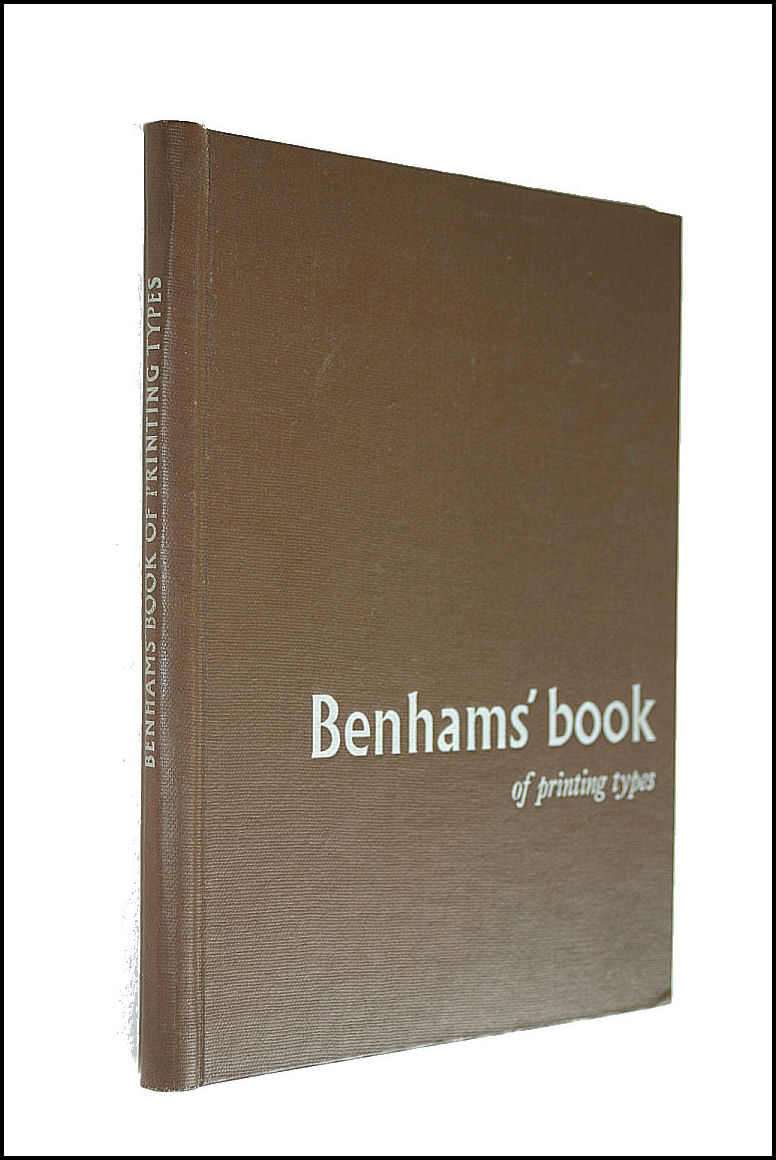 Image for Benhams' Book of Printing Types