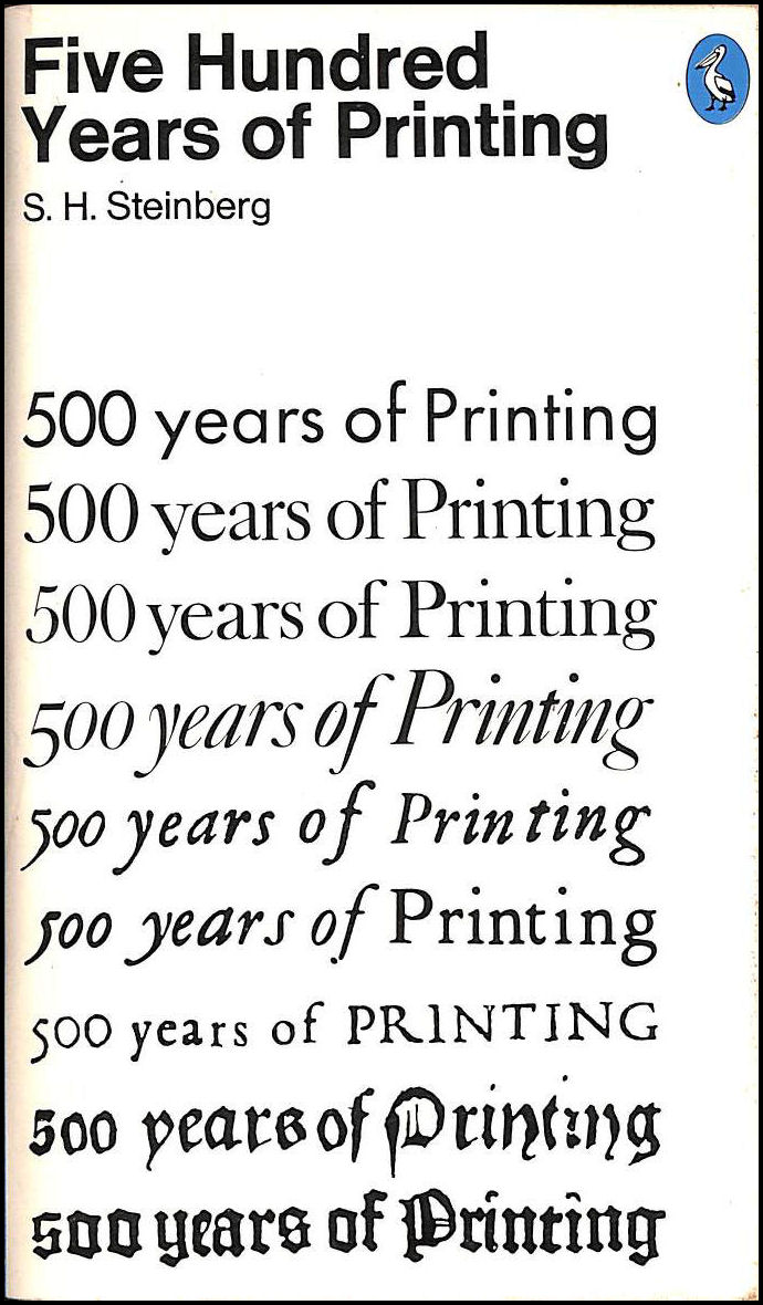 Image for Five Hundred Years of Printing (Pelican)