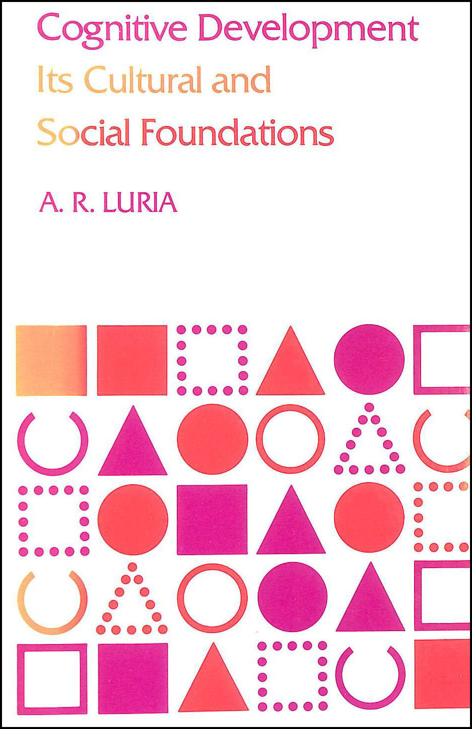 Cognitive Development: It's Cultural and Social Foundations, Luria, A. R.