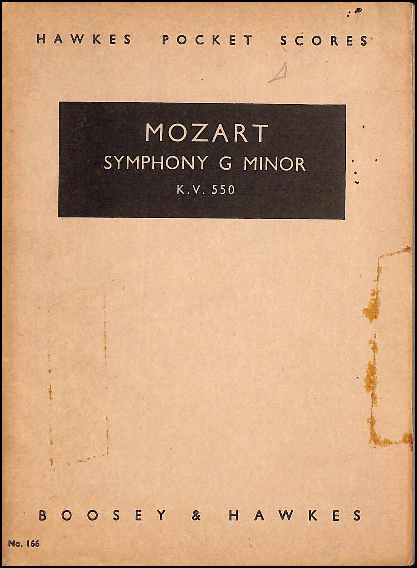 Image for Mozart : Symphony No. 4, G Minor, Sol Menor, KV550 (Hawkes Pocket Scores No. 166)