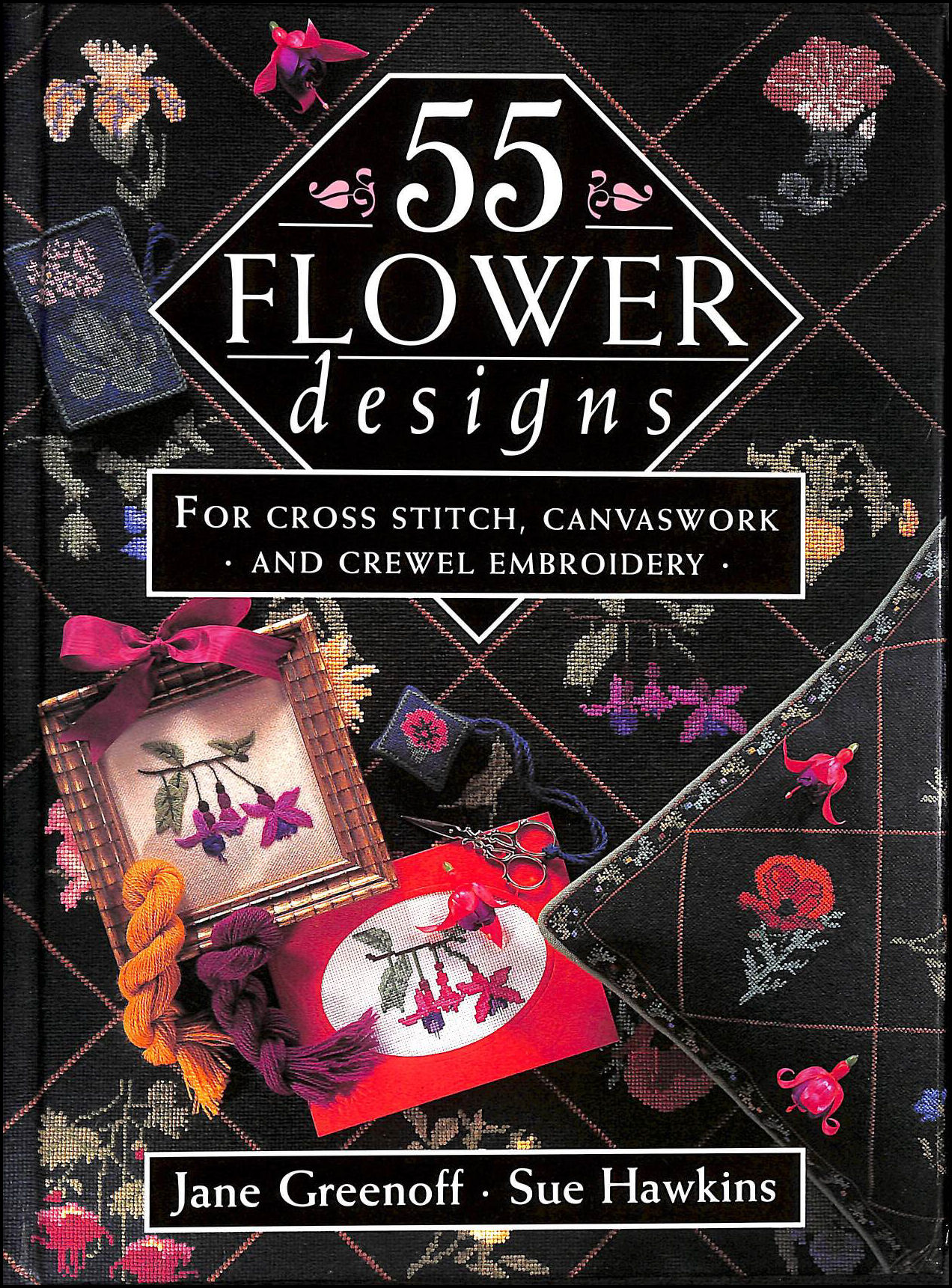 Image for 55 Flower Designs: For Cross Stitch, Canvaswork and Crewel Embroidery