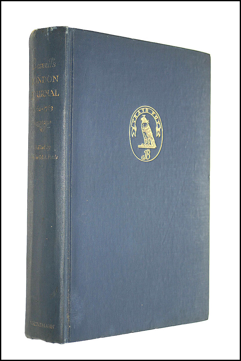 Boswell's London Journal 1762-1763., Frederick A. Pottle [Editor]