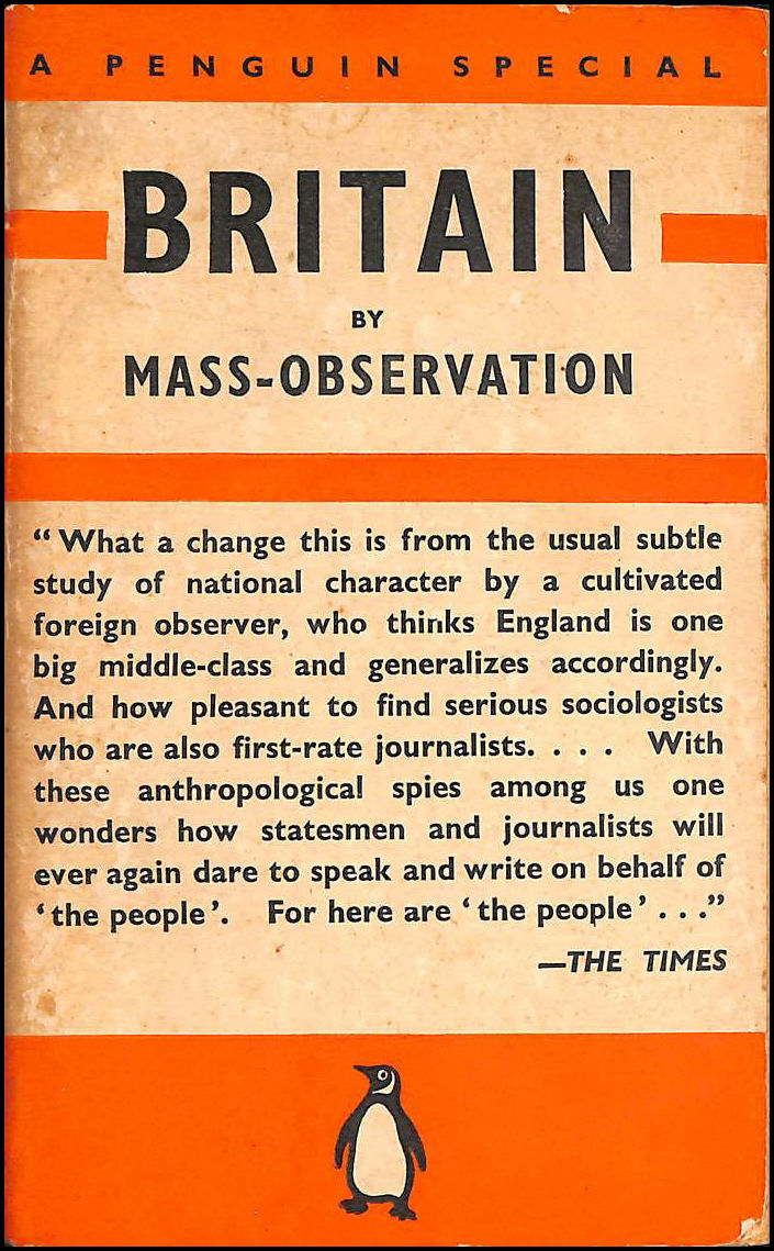 Britain by Mass-Observation, Charles Madge; Tom Harrisson