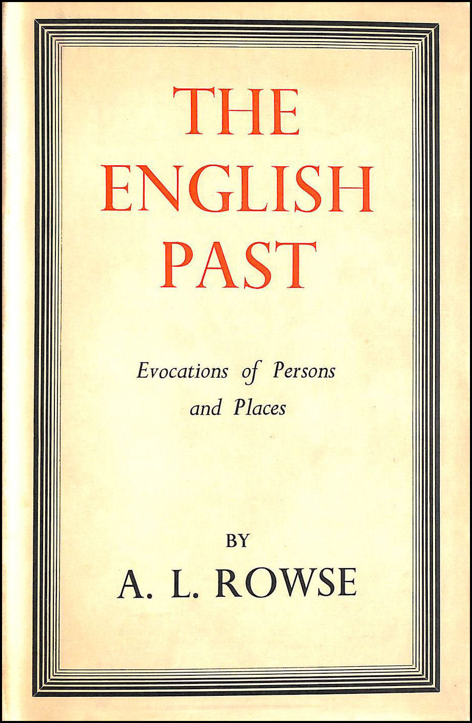 Image for The English past: Evocations of persons and places
