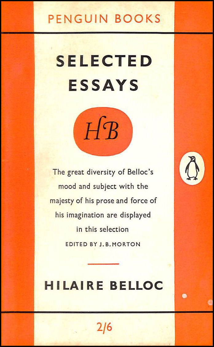 Image for Hilaire Belloc: Selected Essays (Penguin Main Series 1325)