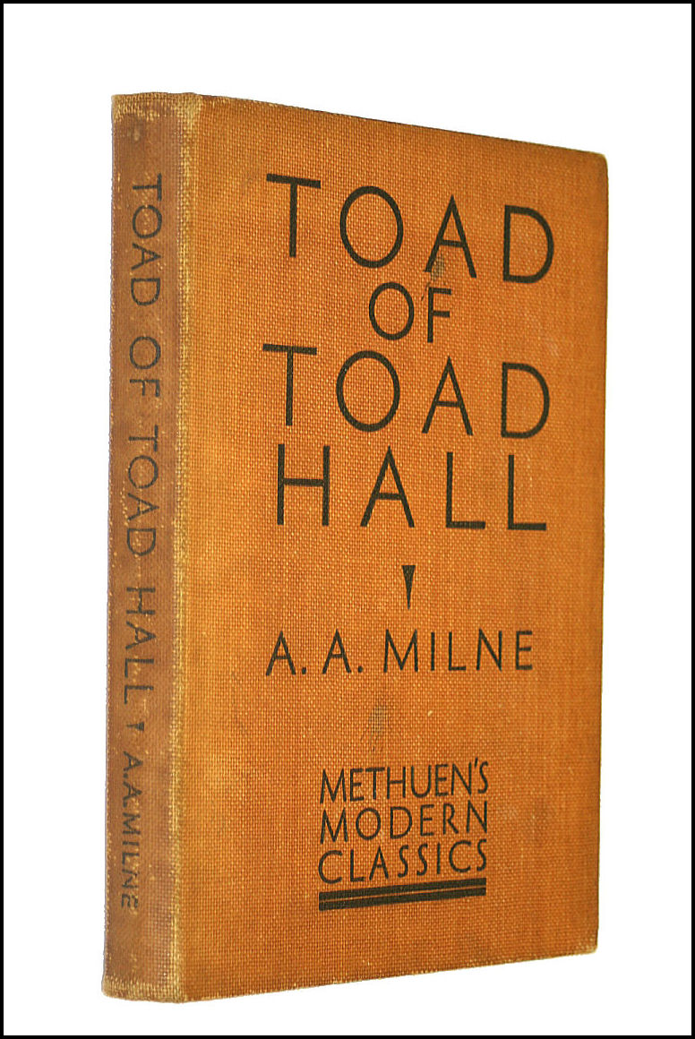 Toad of Toad Hall, Milne, A