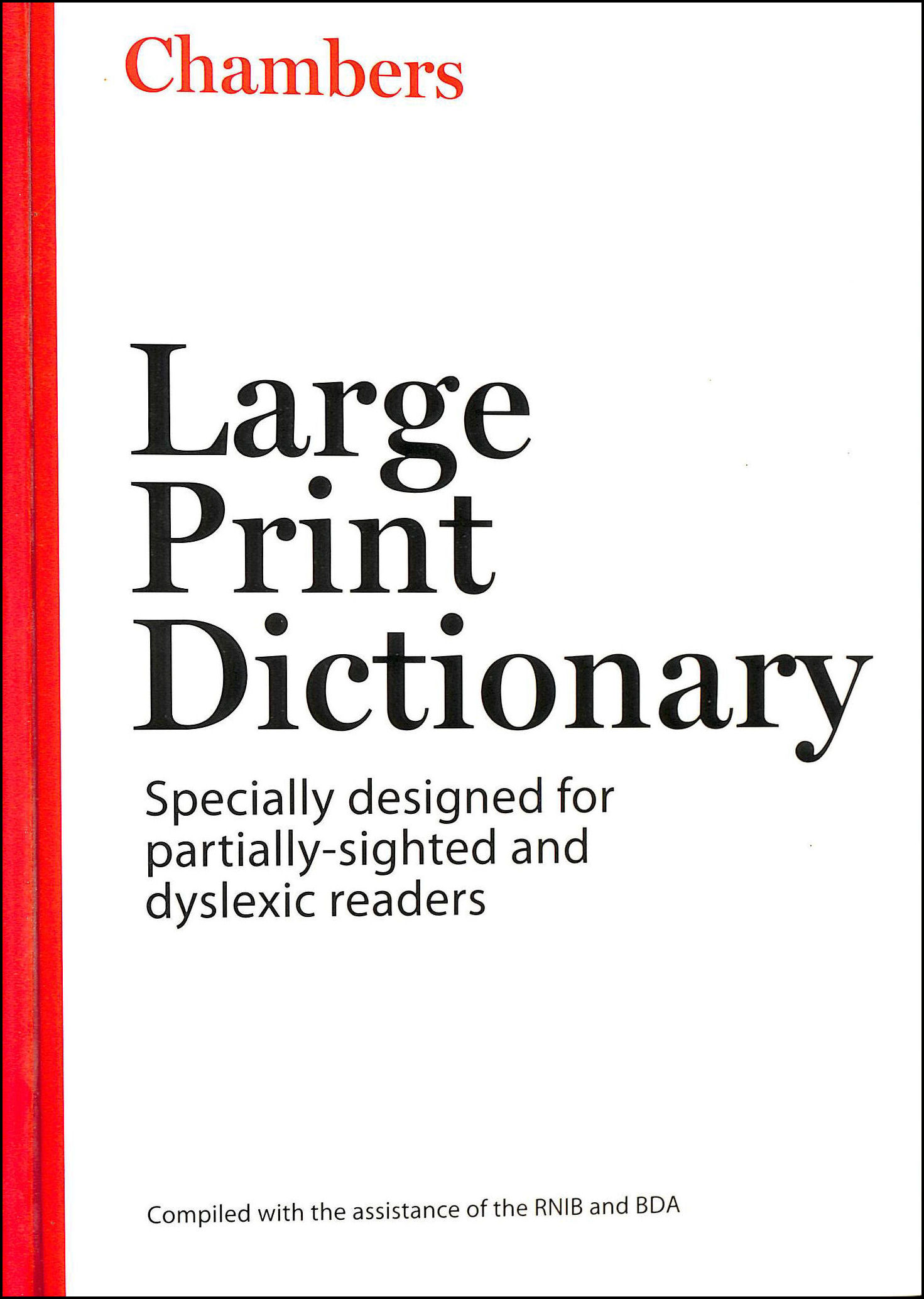 Image for Chambers Large Print Dictionary, 2Nd Edition