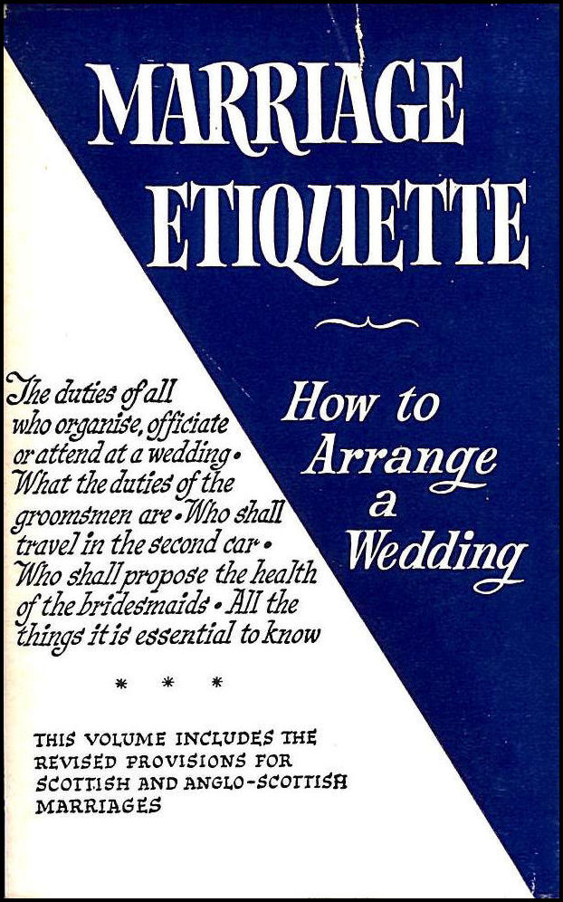 Marriage Etiquette, Best Man; Best Man [Contributor]