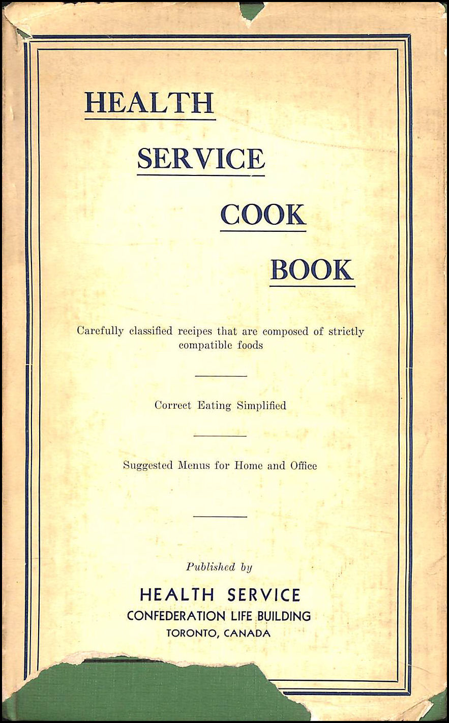 Image for Health Service Cook Book
