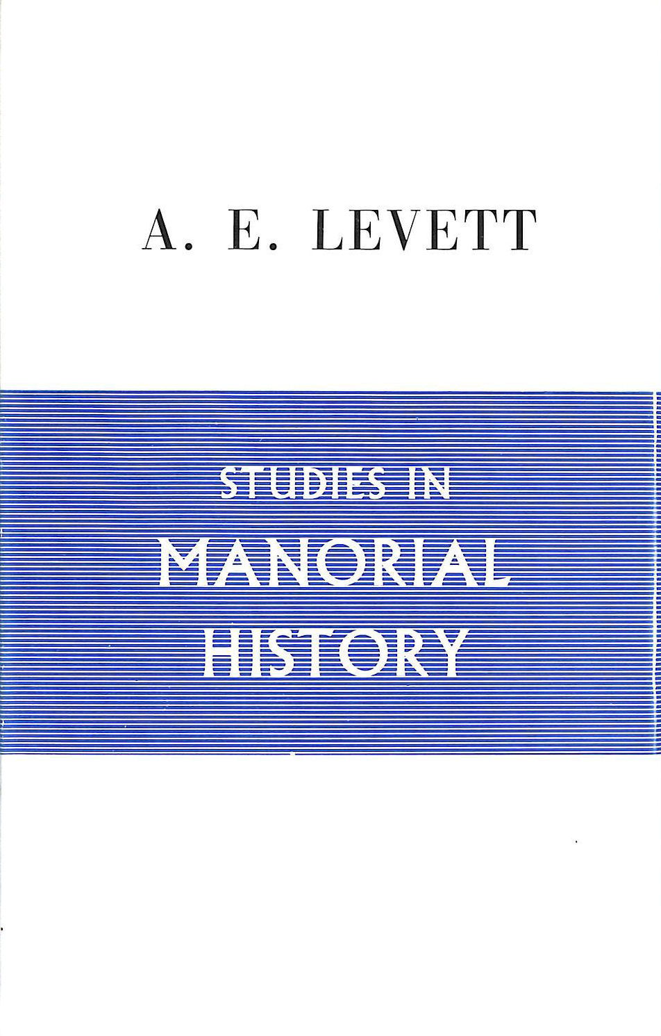 Image for Studies in Manorial History.
