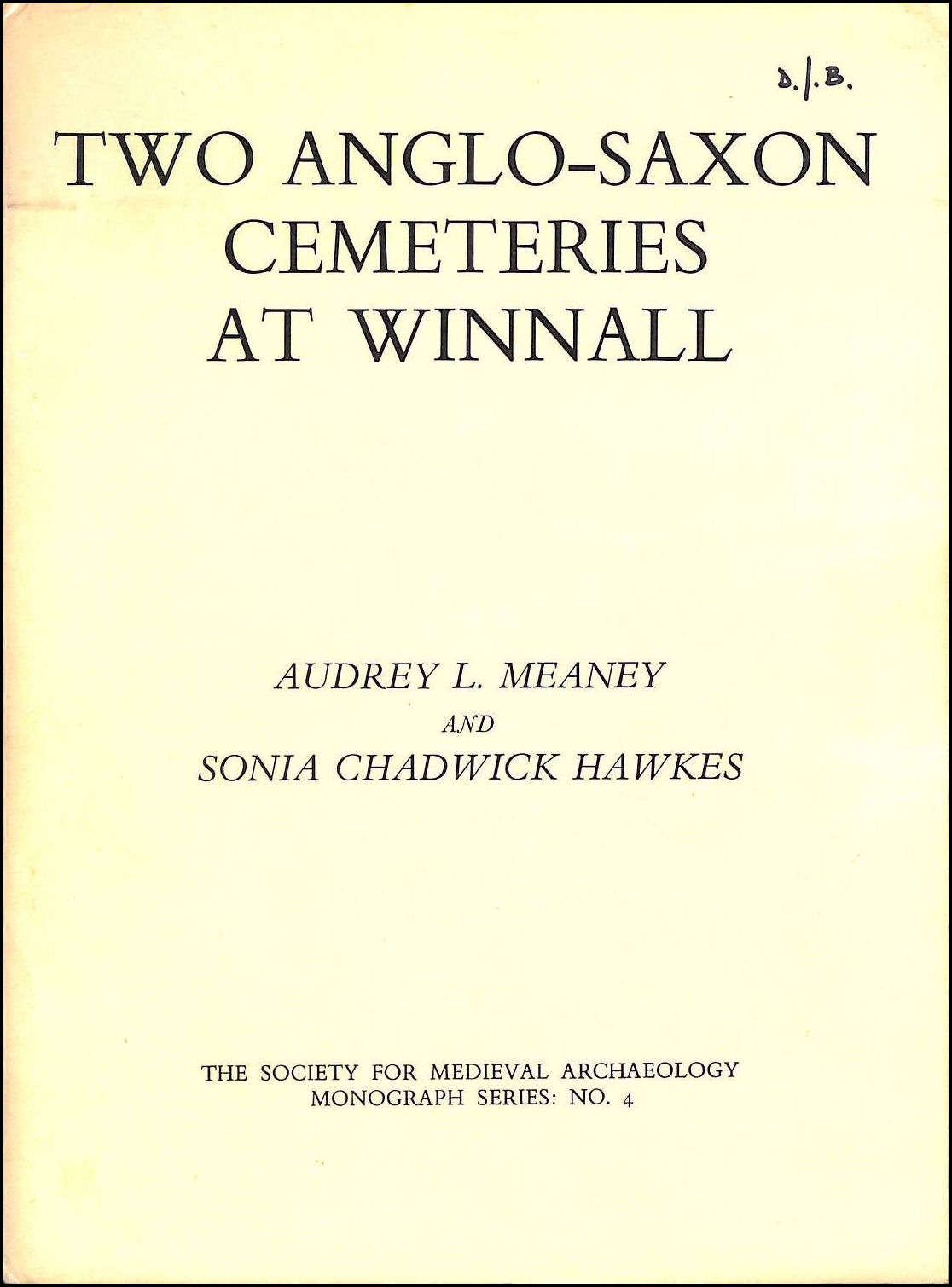 Image for Two Anglo-Saxon Cemeteries at Winnall