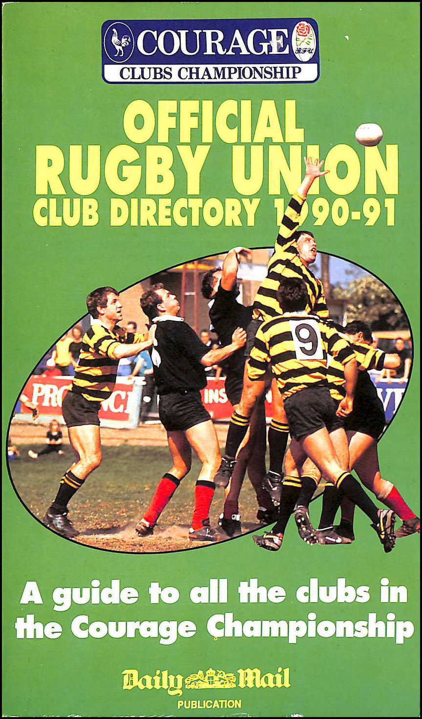 Image for Official Rugby Union Club Directory 1990 - 91
