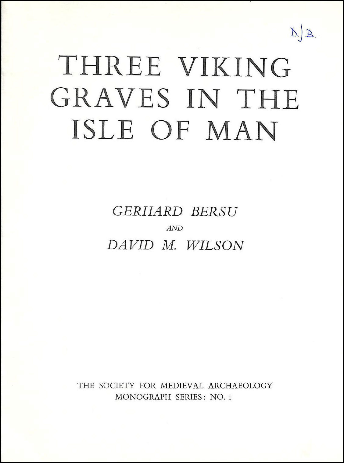 Image for Three Viking Graves in the Isle of Man (Monograph)