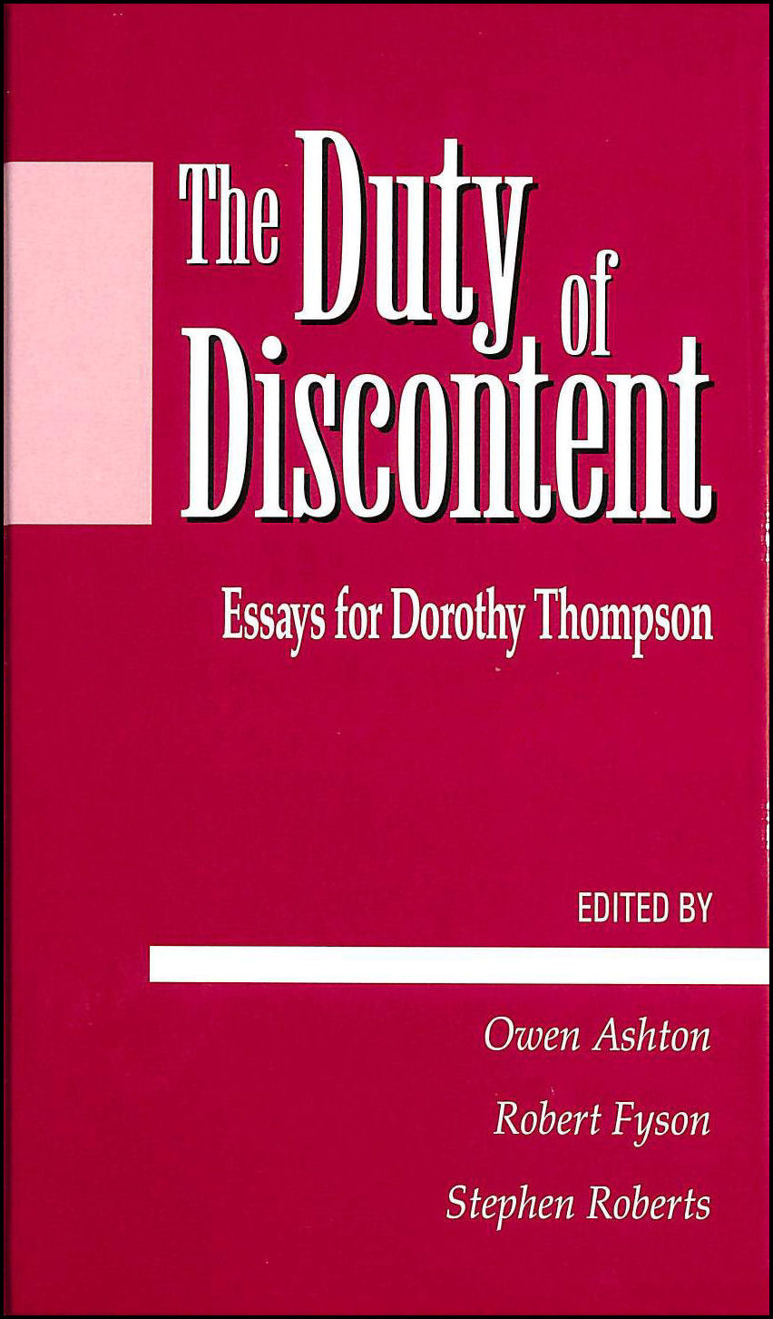 Image for The Duty of Discontent: Essays for Dorothy Thompson