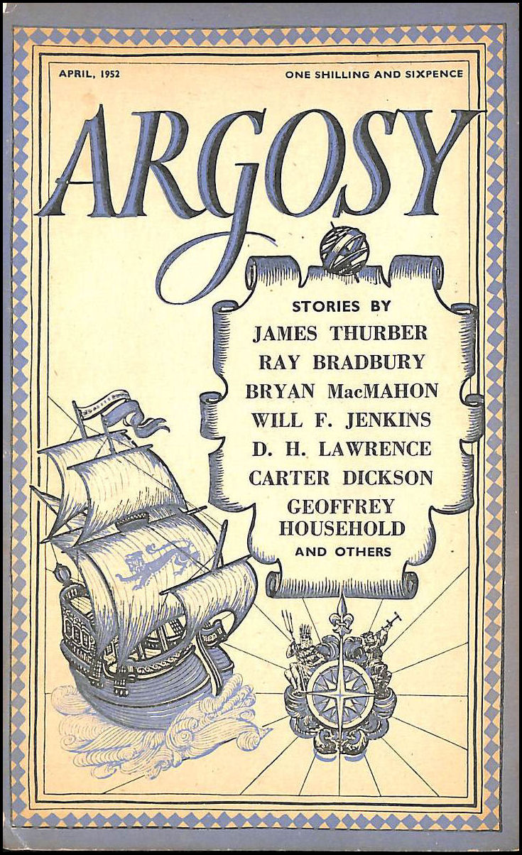 Argosy, April 1952, Bradbury, Ray; Thurber, James; Lawrence, D. H. (contributes)