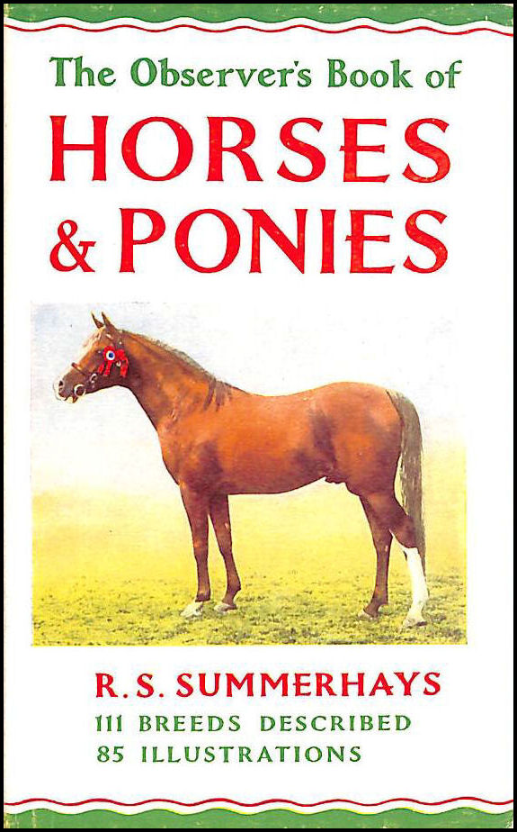 Image for The observer's book of horses and ponies: Describing one hundred and eleven breeds and varieties (Observer's pocket series)