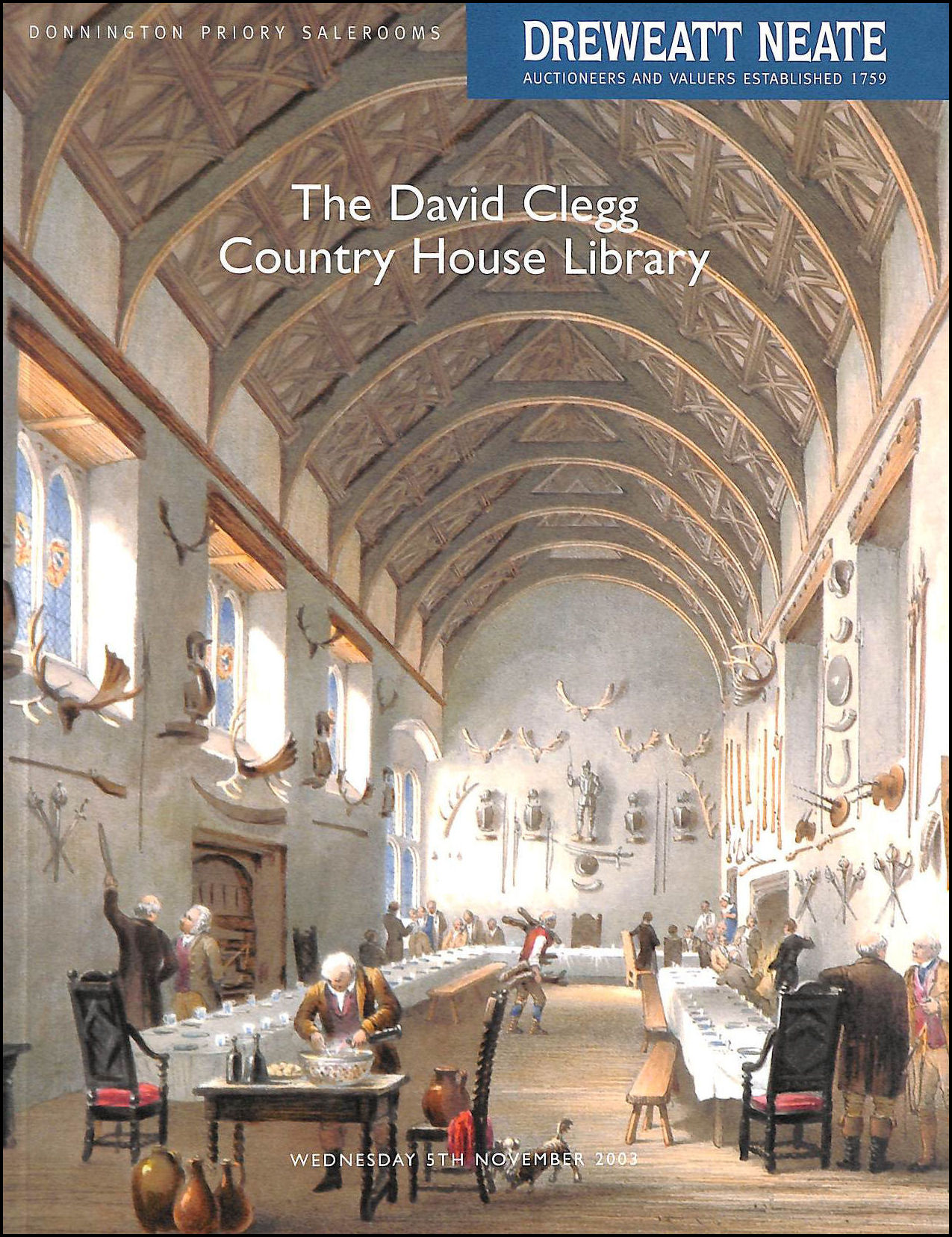 Image for The David Clegg Country House Library [auction catalogue: 5th November 2003]