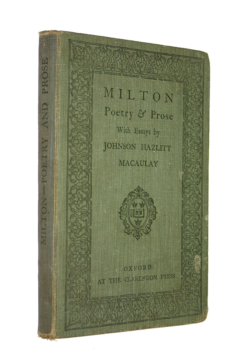 Image for Poetry and Prose with Essays By John Hazzlitt Macaulay