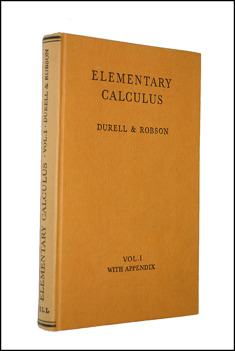 Image for Elementary Calculus With Appendix. Vol. I.