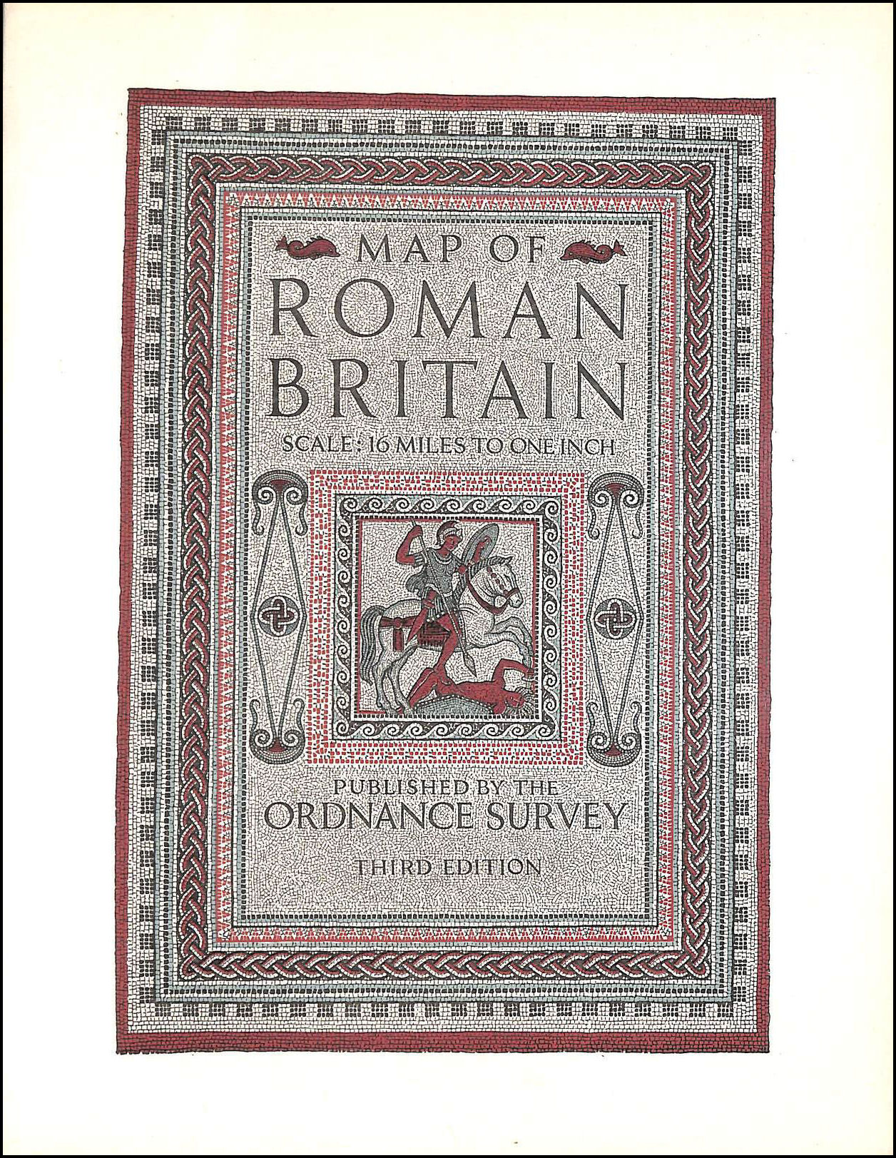 Map of Roman Britain: scale: 16 miles to one inch, No author.