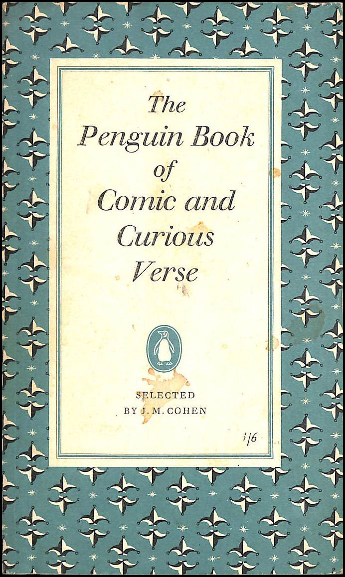 The Penguin Book of Comic and Curious Verse, J.M.Cohen