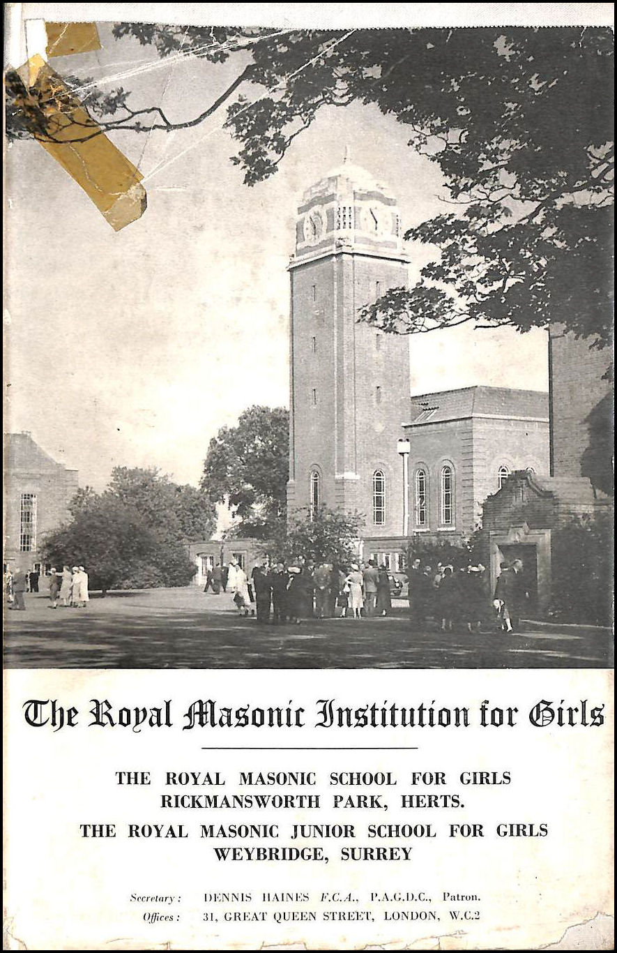 Image for The Royal Masonic Institute for Girls Year Book 1958