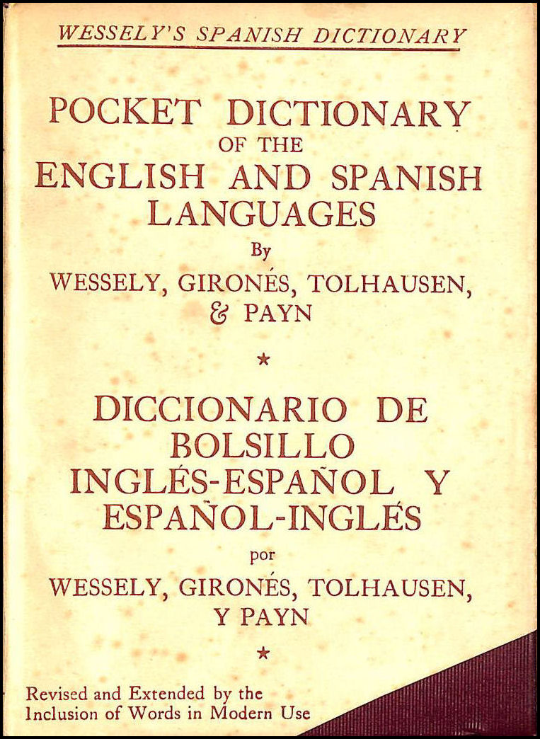 Image for Pocket Dictionary of the English and Spanish Languages