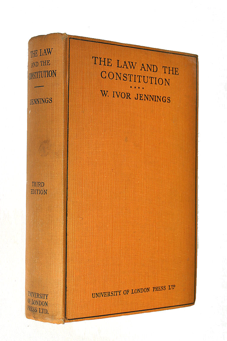 The Law and the Constitution, Sir Ivor Jennings