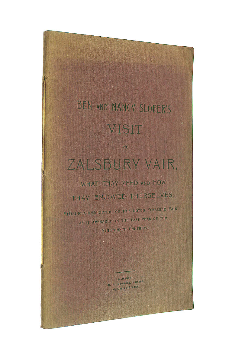 Ben And Nancy Sloper's Visit To Zalsbury Vair. What Thay Zeed And How Thay Enjoyed Therselves, Slow, Edward