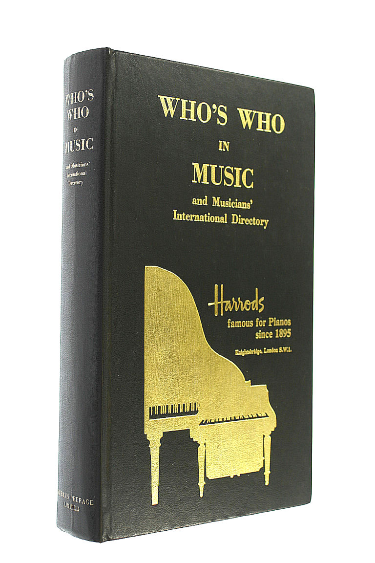 Image for Who's Who in Music and Musicians' International Dictionary
